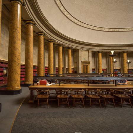 Manchester Library with Tables and Chairs